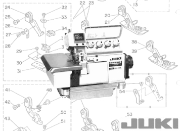 juki mo 2504 mo 2514 parts needles service rh siruba co uk Juki DDL-8700 Manual Juki Commercial Serger Oil Sump Mounts